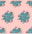 seamless daisy cute background vector image