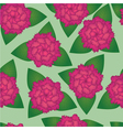 Seamless pattern of pink flowers vector image vector image