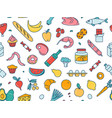 seamless pattern supermarket grosery store food vector image