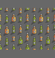 seamless pattern with isometric beer bottles vector image vector image