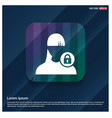 secure user icon vector image