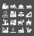 Set icons of industrial vector image vector image