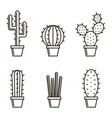 set of cactuse vector image vector image