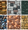 Set of seamless pattern with decorative stones vector image vector image