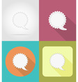 speech bubbles flat icons 09 vector image vector image