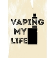 The poster or emblem with an electronic cigarette vector image vector image