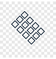tiles concept linear icon isolated on transparent vector image
