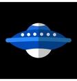 UFO flat icon vector image vector image