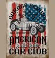 vintage car tee graphic design vector image
