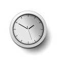 wall clock in realistic style with shadow vector image
