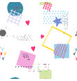 weird abstract seamless pattern vector image vector image