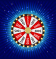wheel fortune lucky icon vector image