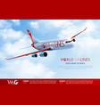 world airlines advertising composition vector image vector image