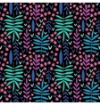 Hand-drawn seamless floral pattern vector image