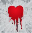 Bloody heart vector image