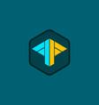 shape arrow abstract business logo vector image