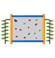 rock climbing wall on white background vector image