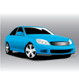 sports blue car vector image
