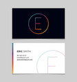 business-card-letter-e