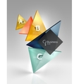 3d triangle abstract background vector image vector image
