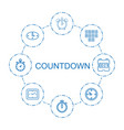 8 countdown icons vector image vector image
