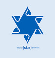Abstract design element blue David star with vector image vector image