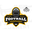 american football tournament emblem logo vector image vector image