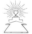 arrow aim to trophy cup vector image vector image