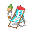 artist beach chair character cartoon vector image