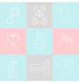 Baby supplies vector image