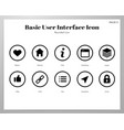 basic ui icons rounded pack vector image vector image