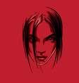 beautiful girl portrait vector image vector image