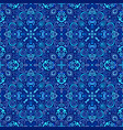 blue arabesque pattern vector image