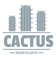 botany cactus logo simple gray style vector image