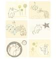 cartoon animals card vector image vector image