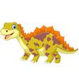 cartoon dinosaur on white background vector image vector image