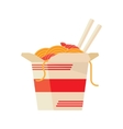 Chinese Food Take Out Box Cartoon vector image vector image
