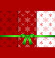 Christmas Pattern and Ribbon vector image vector image