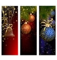 Christmas website banner set decorated with Xmas vector image vector image