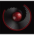 Circle pattern and disco ball vector image vector image