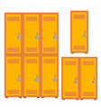 classic school locker metal cabinet icon vector image vector image