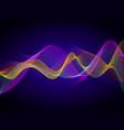 colorful digital wave vector image