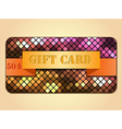 Colorful gift card vector image vector image