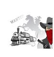 cowboy train vector image vector image