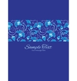 dark blue turkish floral stripe frame vector image
