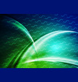 dark green blue abstract smooth waves background vector image vector image