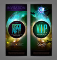 disco ball background disco party poster vector image