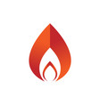 geometric shape fire flames element emblem symbol vector image
