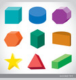 geometric shapes platonic solids vector image vector image