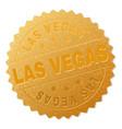 gold las vegas badge stamp vector image